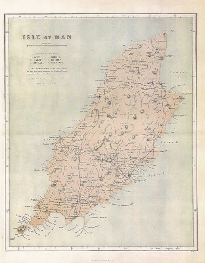 Reproduction County Maps Example - Isle of Man 1875