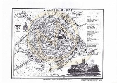 Reproduction Map - Street Plan Example Canterbury1806