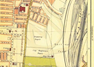 Reproduction Map - Street Plan Example LIverpool Wavertree Park 1928