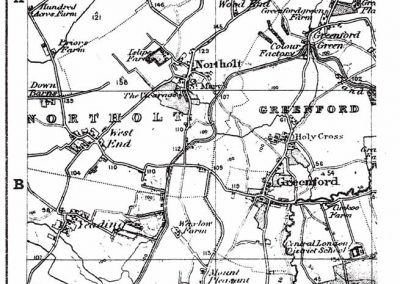 Reproduction Map - Street Plan Example Northolt Greenford Middx 1887